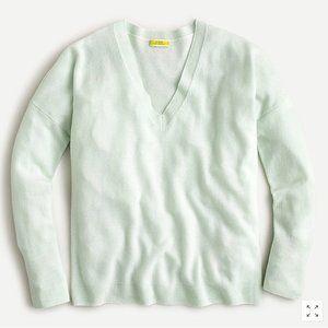 J. Crew - Cashmere V-neck Boyfriend Sweater